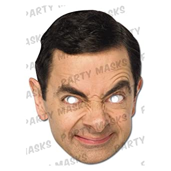 High Quality Cardboard Mr Bean Mask
