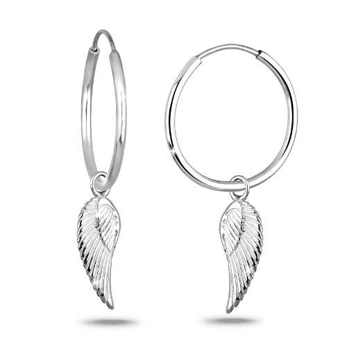 Elli Damen-Ohrringe Flügel 925 Silber 0311441711