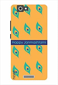 Noise Happy Janmashtmi-Yellow Printed Cover for Gionee M2