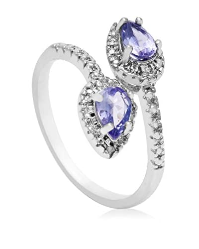 Adoriana 0.67 Carat Pear Shape Tanzanite & Diamond Wrap Ring