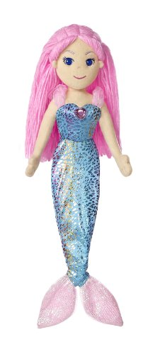 "Aurora World Sea Sparkles Mermaid Nixie Doll, 17"" Tall"