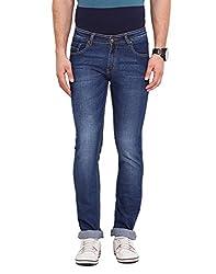 Dais Blue Coloured Cotton Stretch Jeans 36
