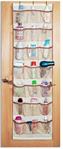 DAZZ 42-Pocket Over-the-Door Organizer, Beige