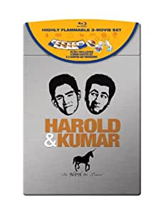 Harold & Kumar (Harold & Kumar Go to White Castle / Harold & Kumar Escape from Guantanamo Bay / A Very Harold & Kumar Christmas) (Ultimate Collector's Edition) [Blu-ray]