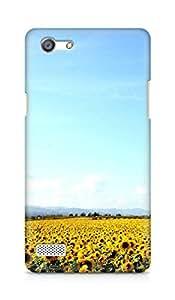 Amez designer printed 3d premium high quality back case cover for OPPO Neo 7 4G (sunflower garden nature )