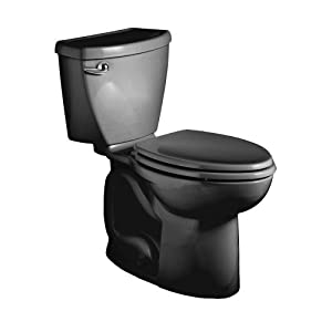 American Standard 2832.128.178 Cadet-3 FloWise Elongated Two-Piece Toilet with High Efficiency, Black