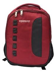 Regent Haversack Maroon Coloured Platinum Backpack