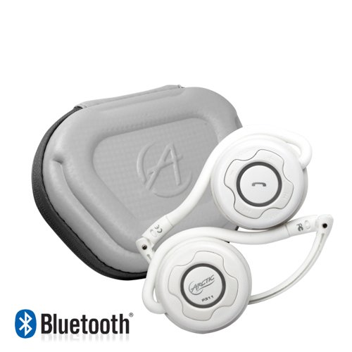 Arctic P311 Bluetooth Stereo Headphones, Integrated Microphone, 20-Hr Playback - White