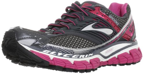 Brooks Women's Glycerin10 W Red/Black/Silver Trainer 1201121B761 6.5 UK, 8.5 US