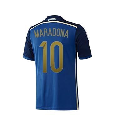 Adidas MARADONA #10 Argentina Away Jersey World Cup 2014