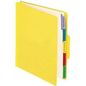 Pendaflex Vertical Personnel Folders, 1/3 Cut, Top Tab, Letter, Yellow, Pack of 10 (SER-1-YEL)