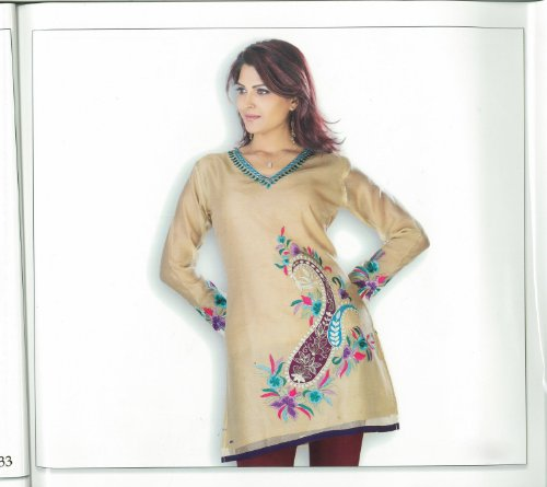 Indian Traditional Embroidered Work Silk Cotton Kurta