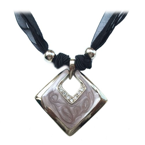 Chaomingzhen Charms Enamel Square Choker Necklace Fashion Jewerly for Women Wedding or Party
