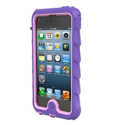 Special Sale Gumdrop Cases DS5-PUR-PNK Designer Drop Series Case for iPhone 5 - Retail Packaging - Purple/Pink