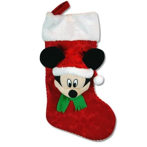 "Disney Mickey 18"" 3D Head Felt Stocking with Plush Cuff - 1"