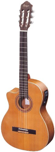 Ortega RCE131L Electrified Classical Guitar with Cutaway - Left