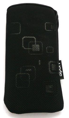 Emartbuy Lg T300 Cookie Lite Geprägte Sport Case / Tasche / Cover (Größe Small) Schwarz