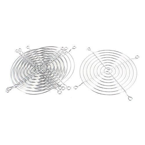 5pcs Argent Ton Grille Métallique Protecteur Protège-doigts pour 120mm Ventilateur De Boîtier