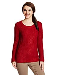 Elle Womens Sweater (EESW0045_Red _X-Small)