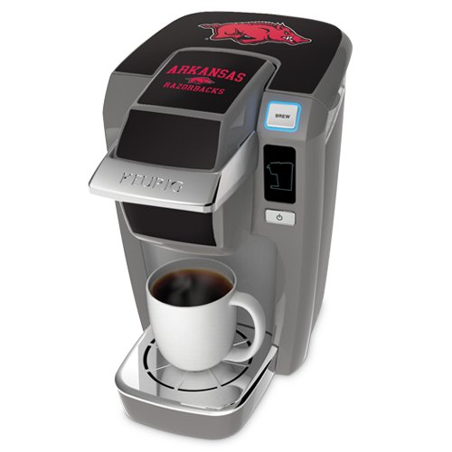 Keurig K10 Platinum Mini Plus Single Cup Personal Brewer With University Of Arkansas Decal Kit