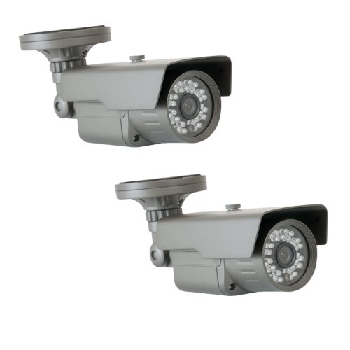 "Gw 2 X 1/3"" Cmos Outdoor Security Camera, 650 Tv Lines, 3.6Mm Lens, 30 Ir Leds, 82 Ft Ir Distance. Low Illumination 0.1 Lux. Metal Vandal Proof & Water Proof"