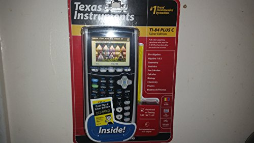 Texas Instruments Ti-84 Plus C Silver Edition Graphing Calculator - Includes Dummies Manual Inside, Black