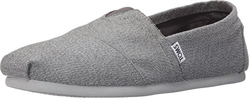 TOMS Men's Woven Classics Grey/White Woven Loafer