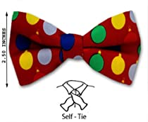 FBTX-9 - Christmas Theme Self - Tie Bow Tie