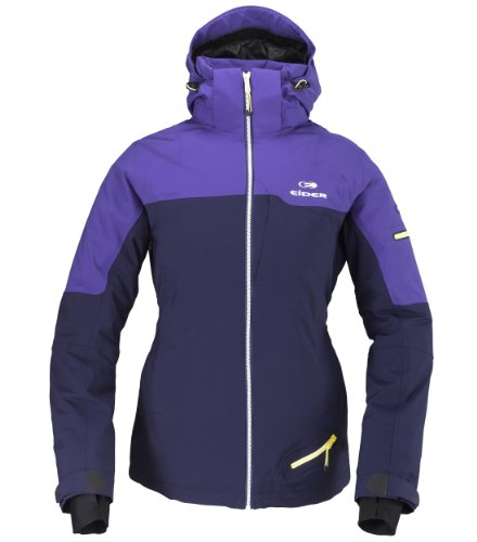 EIDER Damen Funktionsjacke Buttermilk, navy/jacaranda purple, Fr.40/deu.38, EIV2062