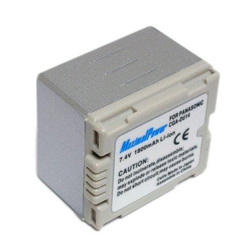 Maximal Power DB PAN CGA-DU14 Replacement Battery for Panasonic Digital Camera/Camcorder (Black)