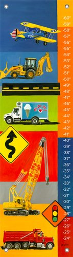 Oopsy Daisy Graphic Transportation by Jill Bachman Pabich Growth Charts, 12 by 42-Inch