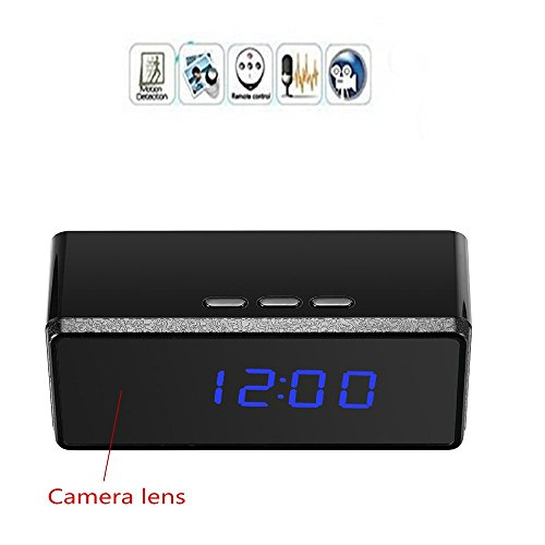 For Sale! Mofek 1920x1080 Hidden Camera Alarm Clock Video Recorder Motion Detection Infrared Night V...