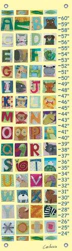 Oopsy Daisy Animal Alphabet Growth Chart by Maria Carluccio, 12 by 42-Inch