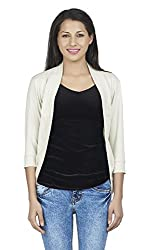 Ten on Ten Casual Wear Shrug for Women_White