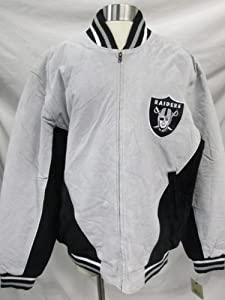G-III Oakland Raiders Mens Large Full Zip Soft Leather Jacket PAMZ 281 616 by G-III Sports