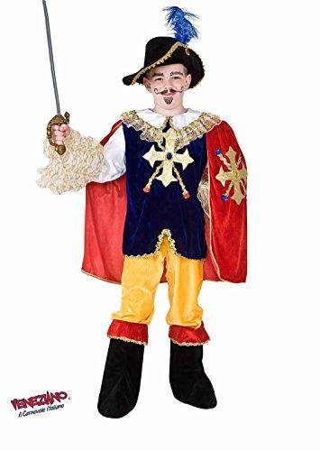 COSTUME CARNEVALE D'ARTAGNAN vestito ragazzo bambino 7-10 Anni travestimento veneziano halloween cosplay festa party 8905 Taglia 8/M