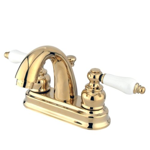 Kingston Brass KB5612PL Restoration 4-Inch Centerset Lavatory Faucet, Polished Brass