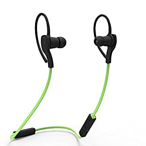 Wireless Bluetooth Headset SPORT Stereo Headphone Earphone for iPhone (Green)