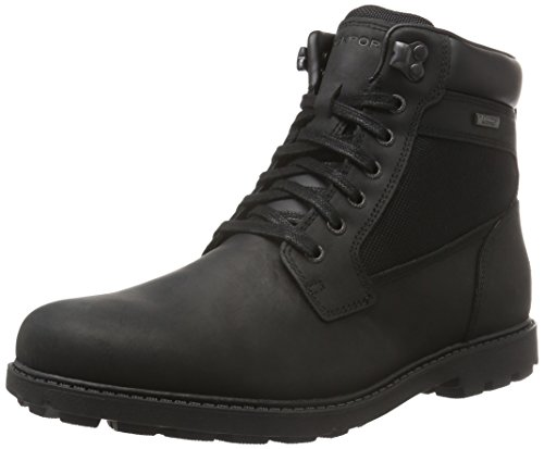 RockportRugged Bucks Waterproof High Boot - Stivaletti uomo, Nero (Nero (nero)), 43