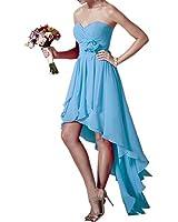 Fashion Plaza Bridesmaid Dresses Hight Low Strapless D0368