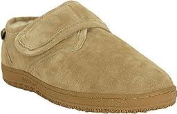 Old Friend Men\'s Adjustable Strap Bootee Slipper,Chestnut,12 5E