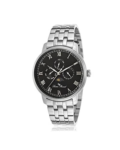 Lucien Piccard Men's 10527-11 Moubra Silver/Black Stainless Steel Watch