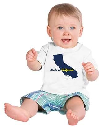 amazon   made in california short sleeve baby t shirt cute funny