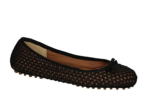 Ballerine Car Shoe donna in Paglia nero - Codice modello: KDF80K 3O1K F0002 - Taglia: 37.5 IT