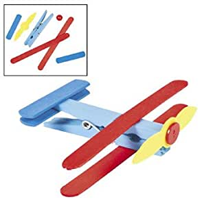 Clothespin airplane craft kit vacation bible for Amazon arts and crafts for kids