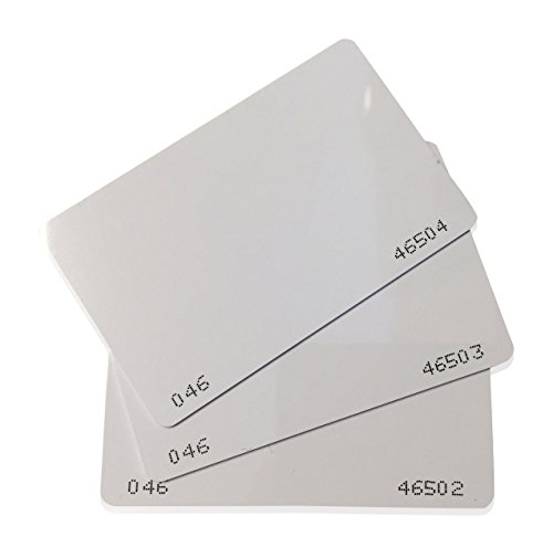 25 pcs 26 Bit Proximity CR80 Cards Weigand Prox Blank Printable Swipe Cards Compatable with ISOProx 1386 1326 H10301 format readers. Works with the vast majority of access control systems (Hid Proxkey Ii compare prices)