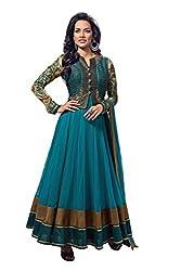 Kamakshi Women Net Anarkali Suit Chetna (X-Large)