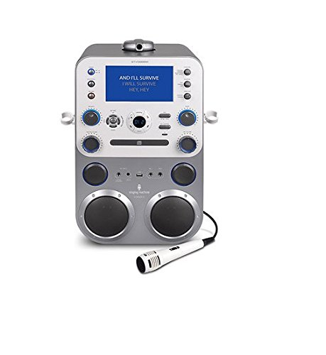 Singing Machine STVG888W Bluetooth Digital Audio Streaming Karaoke System with Recording and Microphone (Karaoke Machine With Camera compare prices)