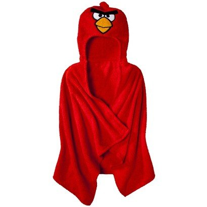 Angry Birds Hooded Towel - Red