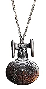 Star Trek Next Generation Enterprise-D Pewter Necklace PENDANT